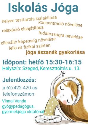 plakát iskolásjóga